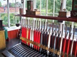 Picture inside signalling house at Beamish Museum