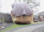 Picture of a giant haystack at Beamish Museum