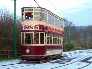 Picture of a tram at Beamish Museum